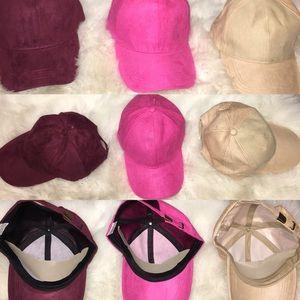 Socrushin Accessories - Pink Textured Dad Hat